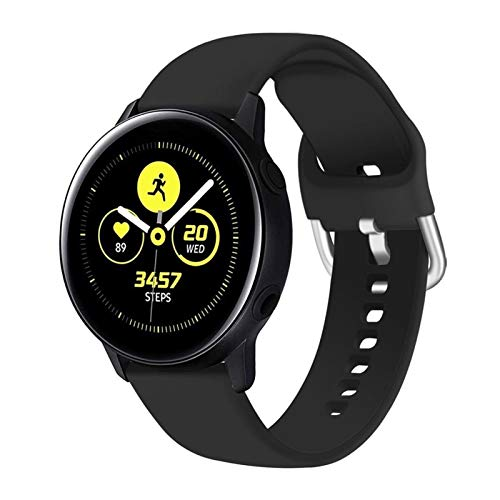 LRJBFC 20 / 22mm Strap para Samsung Galaxy Watch 3 45mm 41mm Active 2 46mm 42mm Gear S3 Wamkband Pulsera para Huawei Smart Watch GT 2 Pro (Band Color : Black 3, Band Width : 22mm S)