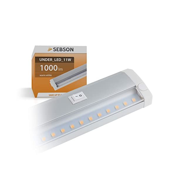 SEBSON-LED-Lichtleiste-warmwei-60cm-LED-Leiste-11W-1000lm-LED-Unterbauleuchte-erweiterbar