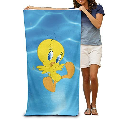 MJDIY Looney Tunes Tweety Bird Beach Towel 31.5x51.2 Inches/80x130cm
