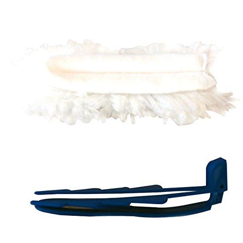 MSV 100200 Mini plumeau, Plastique, Bleu, 28x10x10 cm