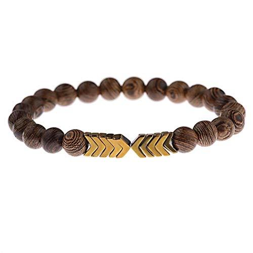 WDam Pulsera para Hombre, Cuentas de Piedra Lunar Natural, Pulsera de Buda Tibetano, Pulseras de Chakra, Regalos de joyería para Hombres