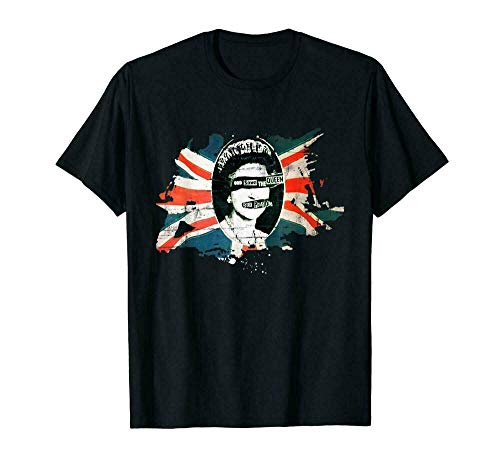 Lqy Sex Pistols Flag God Save The Queen T-Shirts Tee US Cotton Trend