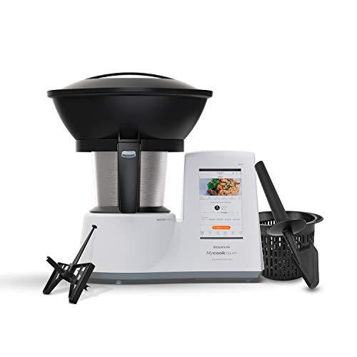 Taurus Mycook Touch Unlimited Edition - Robot de Cocina, wifi, 1600W, 2L, hasta 140 grados, multifunción, más de 10.000 recetas, Vaporera 2 niveles y cestillo, Blanca
