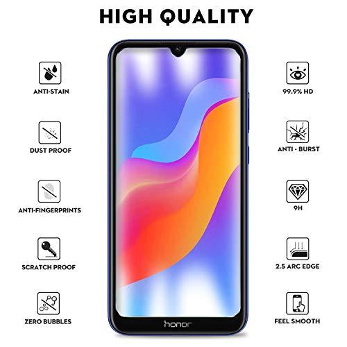 KuGi. für Honor 8A / Huawei Y6 Pro 2019 / Y6 2019 Panzerglas, Honor 8A Schutzfolie 9H Hartglas HD Glas Blasenfrei Displayschutzfolie passt für Honor 8A Smartphone. Klar [2 Pack] - 6