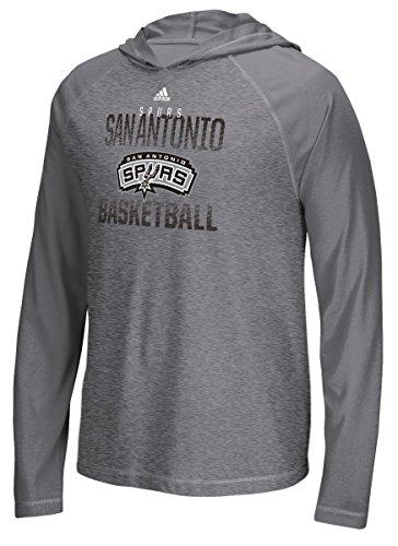 adidas San Antonio Spurs Fade Away Sudadera con Capucha Manga Larga T Shirt, Gris