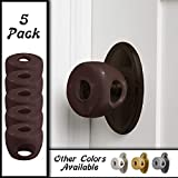 Bronze - Door knob Baby Safety Cover - 5 Pack - 4 Colors Available - Deter Little Kids from Opening Doors with A Child Proof Door Handle Lock - Diddle