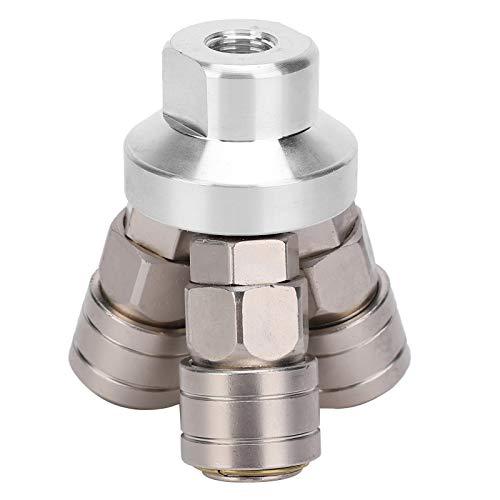 Acoplamiento rápido Conector,Componente neumático, conector rápido redondo cromado, para destornilladores neumáticos sin amoladoras de doble ranura incrustadas 3.0Mpa