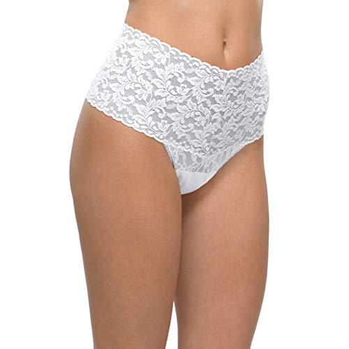 hanky panky, Lace Retro Thong, White, One Size (0-12)