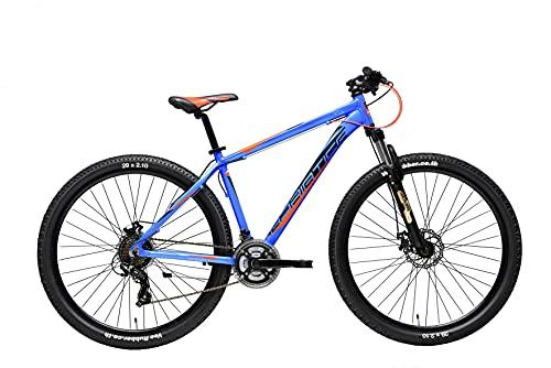 Adriatica Bicicleta de montaña Wing RCK de 29 pulgadas, 21 velocidades, frenos de disco, color azul, 42 cm, tamaño del cuadro
