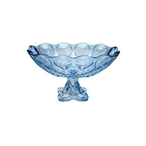 Fruteira de Cristal de Chumbo com Pé Rojemac Azul