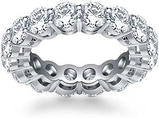 5.00 ct Ladies Round Cut Diamond Eternity Wedding Band in Platinum