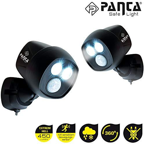 MediaShop Panta Safe Light 2er Set – LED Strahler für innen und außen – Außenleuchten mit Bewegungsmelder und Tageslichtsensor – wetterfeste LED Außenbeleuchtung – 2 Stk. - 10