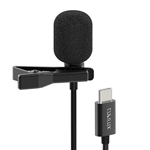 Cubilux USB C Lavalier Microphone, Type C External Clip Lapel MIC...
