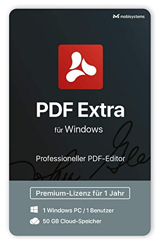 PDF Extra – Adobe® PDF Professional Compatible PDF Editor –– Bearbeiten, Schützen, Kommentieren, Ausfüllen und Unterzeichnen von PDFs - 1 PC/ 1 User / 1-Jahres-Lizenz