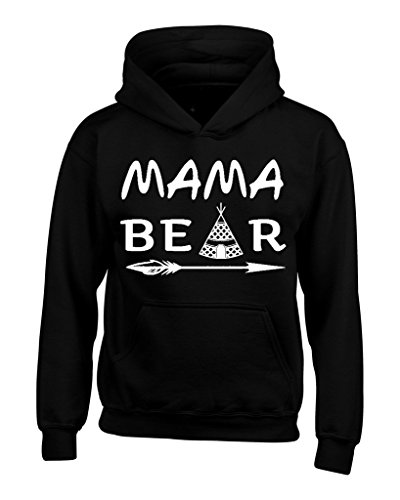 shop4ever Mama Bear Teepee Hoodie Sweatshirts Medium Black 0