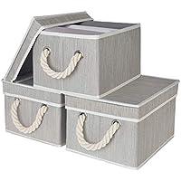 3-Pack StorageWorks Decorative Storage Bins with Lids