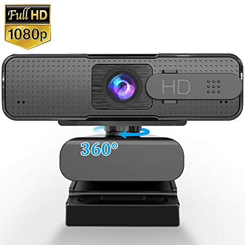 1080P Webcam with Microphone & Privacy Cover HD Autofocus USB Webcam Streaming Computer Web Camera Widescreen Video Web Cam PC Webcam for Desktop Mac Laptop Calling Recording Conferencing Gaming