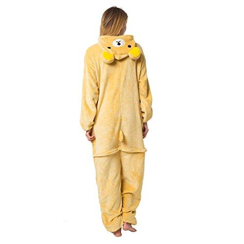 Katara 1744 - Grenouillère Combinaison pour Adultes Tenue de Nuit Pyjama Kigurumi - Taille L...