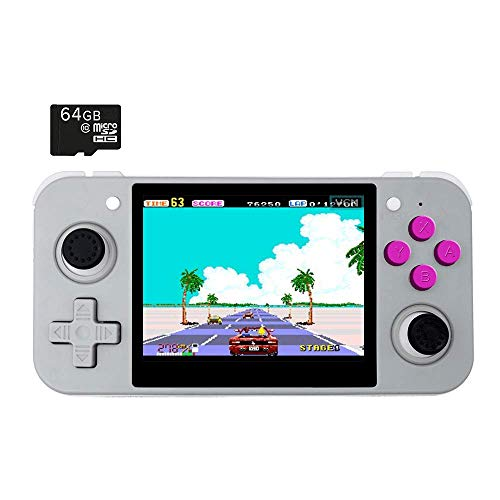 BITTBOY RetroGame RG350 Grey Retro Gaming Portable Handheld Console OpenDingux CFW IPS Display 2500mAh Battery [RG-350-G]