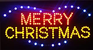 CHENXI Merry Chirstmas/Happy New Year LED Open Sign Rushed Sale Graphics Animated Motion Running 48 X 25 CM Indoor (48 X 25 CM, Merry Christmas-05)