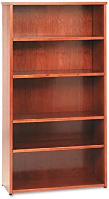Amazon Com Five Shelf Bookcase In Abbey Oak Finish Kitchen Amp Dining