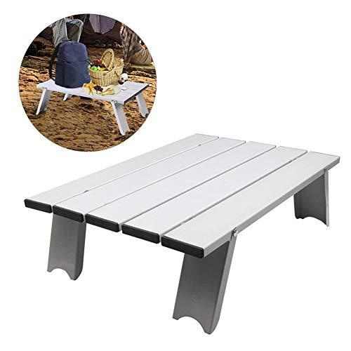 Bloomma Camping-Tisch, Outdoor Klapptisch und Stühle Rollen Beistelltisch für Camping,Picknick,Reisen,Strand