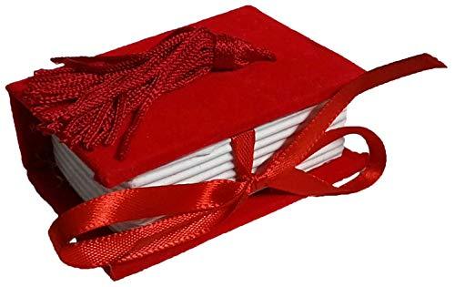 Confezione 24 pezzi, Bomboniera scatola, LIBRO in cartoncino vellutato, cm 6X4x2.5, LAUREA, per segnaposto, portaconfetti. (ck7006)