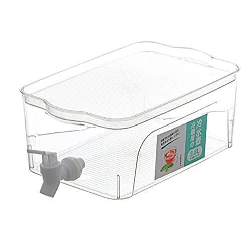 Amuzocity Jarra de Agua Envase Botella de Plástico Dispensador de Bebidas Tetera Fría Transparente