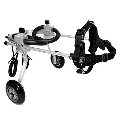 Dog Pet Wheelchair, Wheels Dog Wheelchair for Back Legs Walking Frame Cat Cart Support Wheel Best Friend Joint Aid for Dogs Recovery Suits Dog Pet Stroller (Size : XXXS)