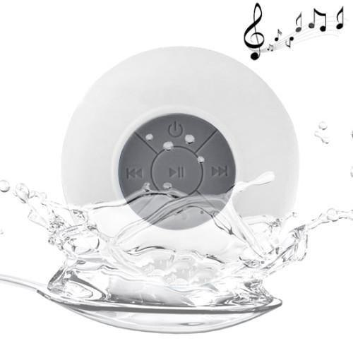 White Wireless Waterproof Portable Speaker Compatible...