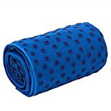 Yoga Towel, Yoga Mat, Microfiber Hot Yoga Towel, Non-Slip Sweat-Absorbent Portable Folding Yoga