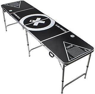 Table Beer Pong Officielle Premium Qualité - Design de Table Audio - Table de Pong à Bière INCL. Support de Balle, 6 balle...