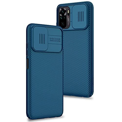 Funda para Xiaomi Redmi Note 10 4G / Note 10s, Protección de la cámara Carcasa Cubierta de cámara Deslizante Proteger Ultra-Delgado Híbrida PC Anti-Choque Anti-arañazos - Azul