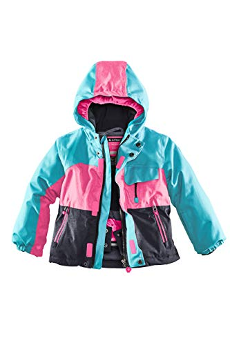Killtec Kinder Deny Mini Skijacke, türkis, 110/116