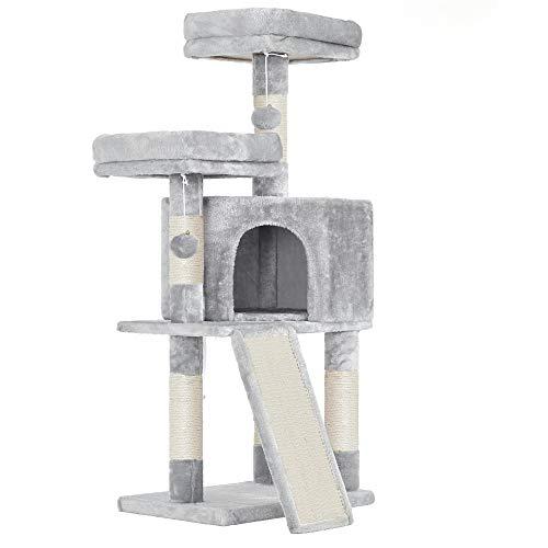 FEANDREA Arbre à Chat, Tour poteaux à gratter 115 cm,...