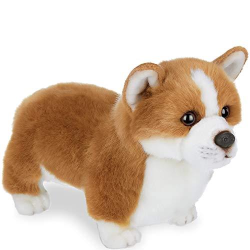 Bearington Queenie Corgi Plush Stuffed Animal Puppy Dog, 13 inch