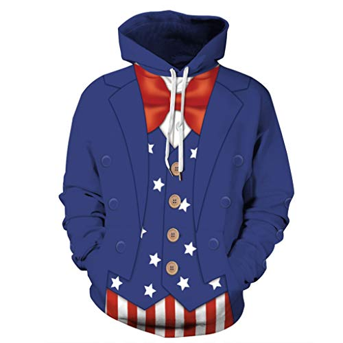 Lässige Hoodies Hooded Tops Bluse für Männer, Kühle Unisex Langen Ärmeln...