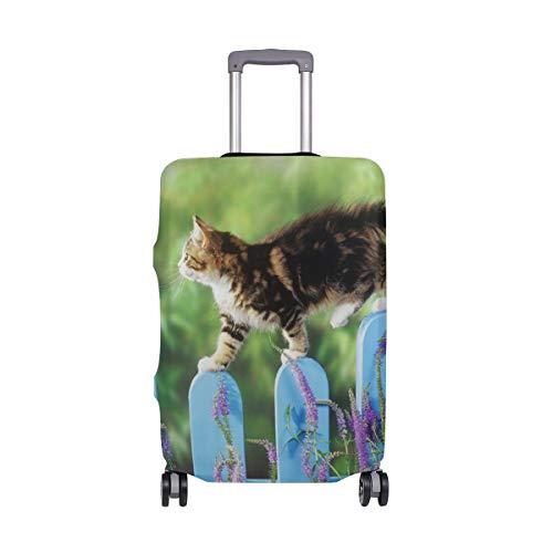 Ajinga, braune Katzen-Zaun Reisegepäckschutz Kofferabdeckung M 55,9–61 cm