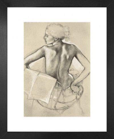 1art1 Frauen Poster Kunstdruck & MDF-Rahmen - Studie Zur GEH Mir Aus Der Sonne Von Francine Van Hove (50 x 40cm)