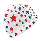 Badekappe, Badehut, Presidents Day Red Blue Stars Swim Caps for Kids Boys and Girls Baby Bathing Caps for Long and Short Hair