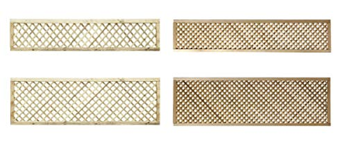 PGS Elite Diamond Trellis in 2 sizes & 2 styles garden lattice Urban Trellis contemporary Garden Fence (183cm wide x 60cm tall, 20mm privacy size hole)