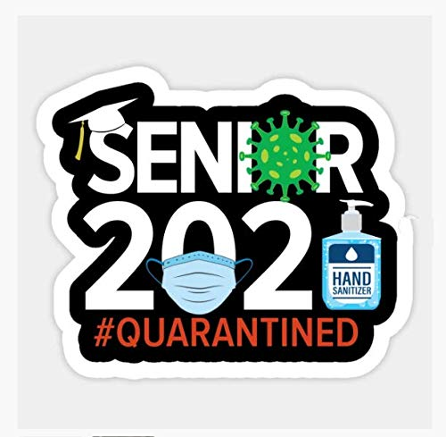 5 pcs Senior 2021 - Coronavirus Covid-19 Pandemic Quarantine Sticker