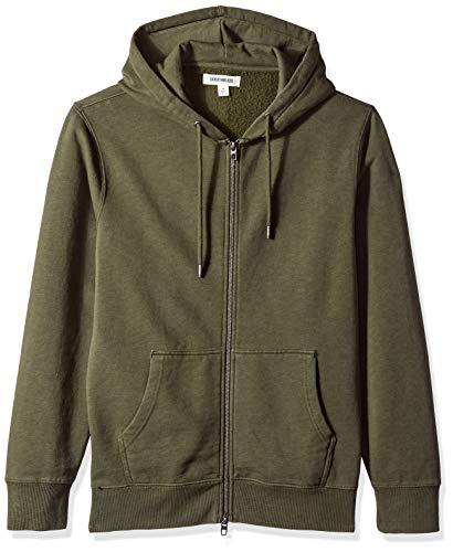 Amazon Brand - Goodthreads Men's Fullzip Fleece Hoodie, Olive, X-Large