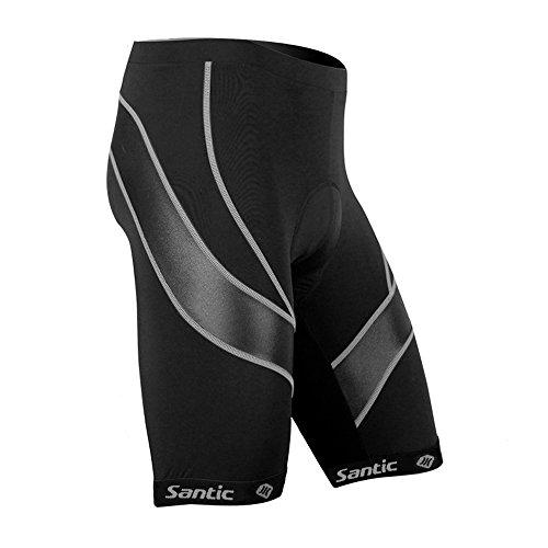 Santic Pantalones Cortos de Ciclismo para la Bicicleta con B