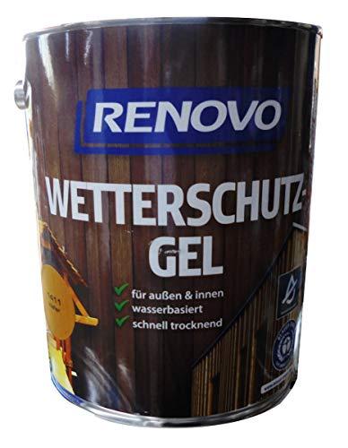 Renovo 5Ltr, Wetterschutz-Gel 1411 Kiefer, wasserbasiert, für außen und innen