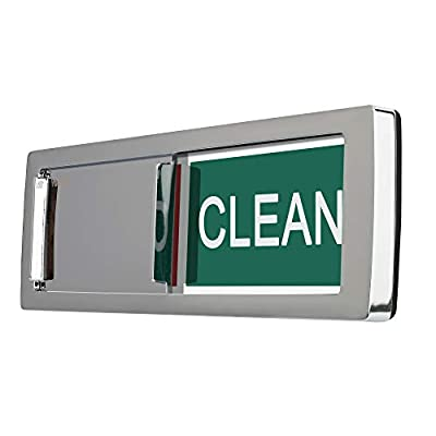 Nano Shield Dishwasher Magnet Clean Dirty Sign, 2019 New Design Decorative Dishwasheer Indicator Slidee Reminder with Sticky Tab Adhesion, Slide Signs Cool Kitchen Gadgets - Silver from Nano shield