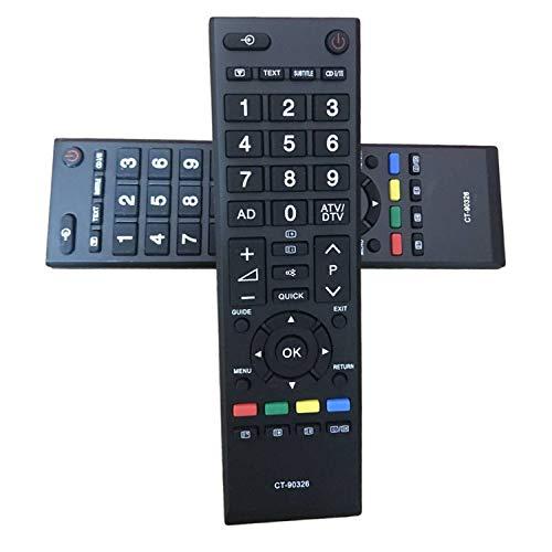 Reemplazo Control Remoto Toshiba CT-90326 Nuevo Mando Toshiba para Toshiba TV - No se Necesita configuración