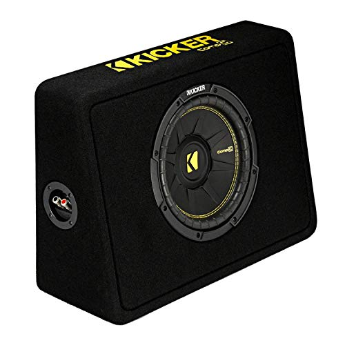 Kicker 10-Inch CompC 2-Ohm Loaded Shallow Subwoofer Box Enclosure (Open Box)