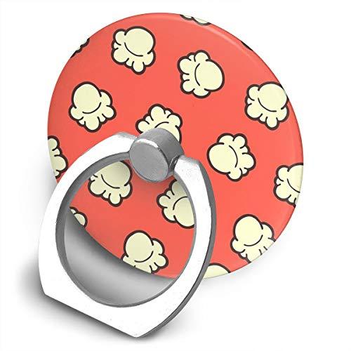 Soporte de teléfono con diseño de palomitas de maíz, soporte de anillo de teléfono celular, soporte giratorio de 360 grados, soporte de metal para series de teléfonos