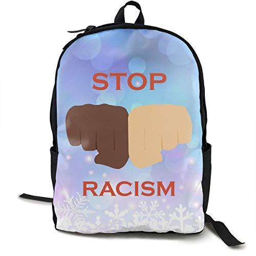 KNKN Di No al Racismo Prejuicio Mujer Hombre Mochila